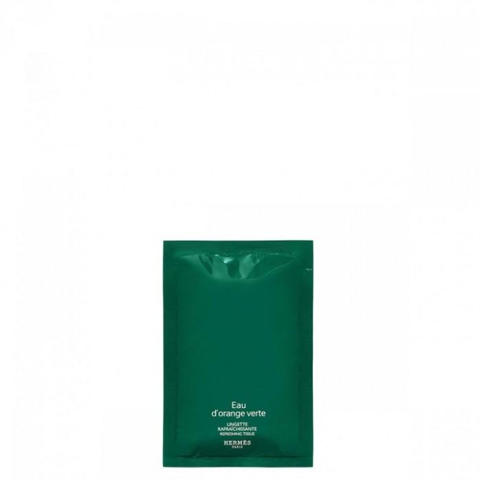 Hermès eau d'orange verte lingettes raffraîchissantes parfumées